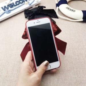 リボン グリッター シャイニー iPhone シェルカバー ケース★ iPhone 6 / 6s / 6Plus / 6sPlus / 7 / 7Plus ★ [NW158]