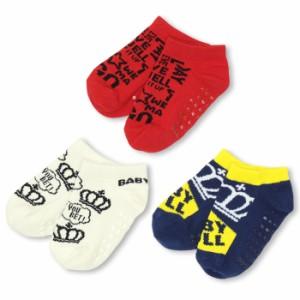 6/11一部再販 NEW スニーカーソックスセット/3足セット-雑貨 靴下 レッグウェア ベビーサイズ ベビードール 子供服 子供用-9370
