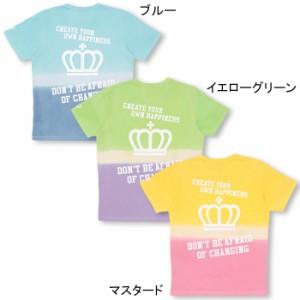 SS_SALE50%OFF 親子ペア グラデーション Tシャツ 大人 男女兼用 レディース メンズ ベビードール 子供服-9504A【XL通販限定】