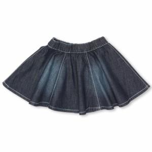 週末限定SALE60%OFF デニムフレアスカート-ベビーサイズ キッズ ベビードール 子供服-9509K