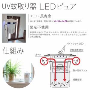 蚊取り器 虫除け UV蚊取り器 IS1WH-WH【0074】MOSピュアIS1 光触媒 屋内専用 ホワイト ナイトライド・セミコンダクター