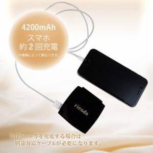 microUSB 【rienda(リエンダ)×コンパクト モバイルバッテリー】 「COSMETICK(2color)」 充電器 ブランド かわいい