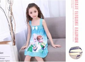 d815e74f00854  1万円以上送料無料 Frozenディズニー版『アナと雪の女王』エルサ Elsa  子供用ドレス ワンピース COSPLAY衣装 パジャマ