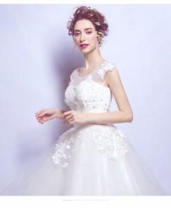 67310b664e07a 2017ウエディングドレス プリンセスライン 編み上げ 二次会 ウェディングドレス ボレロ 結婚式 エンパイア 花嫁 プリンセス 披露宴