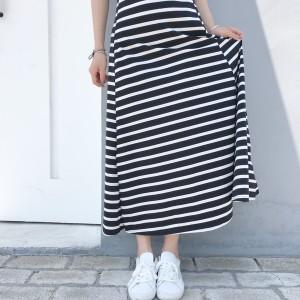 レトロシック ノースリーブ ストライプドレス ウエストドレス 薄いベストスカート