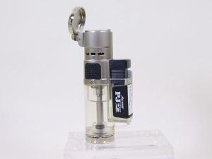 『ついでに買ってお得』ツインライト アゲインスト トリプルジェット ガス注入式ライター PJ Stage2 シルバー x1本