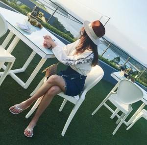 デニムスカートフレア不規則裾幅 美脚効果 楽チン フリンジ 半身スカート(メール便送料無料)