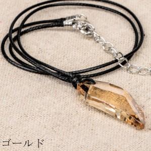 (メール便送料無料)チョーカーネックレス カラーストーン ボリューム ネックレス ビジュー付け襟