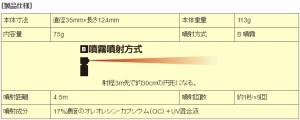 催涙スプレー F-606 ポリスマグナム 3オンスフリップトップ【送料無料(沖縄・離島除く)】【日本護身用品協会認定】【護身グッズ】
