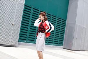 ひざ丈 ボトムス きれいめカジュアル ラップ風 バックル タイトスカート XTAL0136