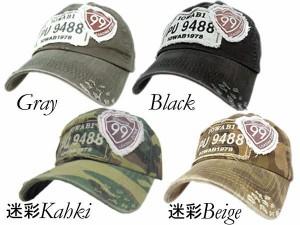帽子 メンズ 帽子 キャップ コットンダメージ キャップ ワッペン99  ゴルフ スポーツに!