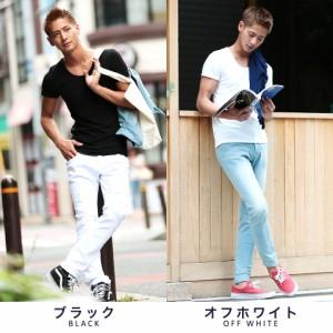 Tシャツ メンズ 無地 タダ割 trend_d roshell JIGGYS / Uネック カラーリング 無地 Tシャツ