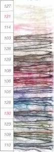 リッチモアカウント10グラデーションとハマナカスパングラスで編むみいみオリジナルスヌードの編み物キットキラキラスパンコールスヌード