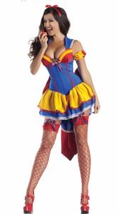 メール便送料無料 ハロウィン衣装 コスプレ衣装 仮装 白雪姫風 セクシー 三点セット 腕飾り リボン タイトミニ スキニー