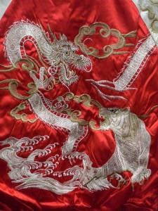 スカジャン つづき龍虎 日本製本格刺繍のスカジャン