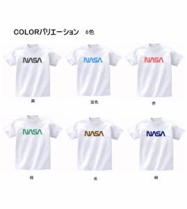 キャラ ロゴ Tシャツ NASA  白 MLサイズ