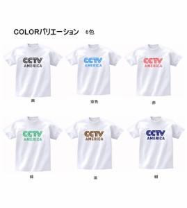 キャラ ロゴ Tシャツ CCTV AMERICA  白 MLサイズ