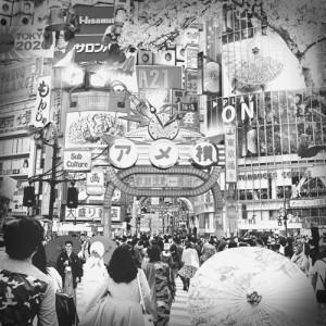アートフレーム 絵画 壁掛け 送料無料 額入り インテリア / 和室 リビング 玄関 / WELCOME TO TOKYO-5 アメ横 額縁 RD4045B