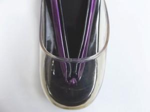 雨除けカバー付2色使鼻緒の無地時雨草履ぞうり黒(紫)フリー 着物・卒業式袴に