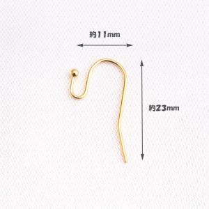 ハンドメイド 手芸材料 パーツ 銅製品/フックピアス 金具 ゴールド pt-139