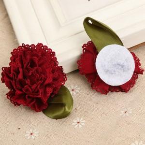 アンティーク調 大きいお花のパーツ 約55ミリ 4色セット 16個入り★0324
