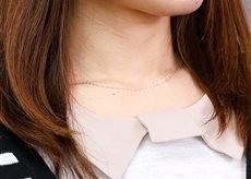 ネックレス チェーン プラチナ ペダルチェーン 鎖 レディース 35cm pt850 地金ネックレス pt850 女性用 人気