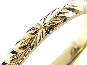 ピンキーリング ハワイアンジュエリー ハワイアンリング 指輪 イエローゴールドk18 地金リング 18金 k18yg ストレート2.3