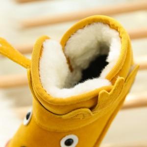 XDX0927-15子供に大人気秋冬の定番商品キッズ子供 ムートンブーツ スエード ムートン ブーツ スエード ファー クッション ショートブーツ