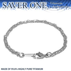 31%OFF! 純チタン スクリューチェーンブレスレット S.M.Lサイズ SAVER ONE(セイバーワン) /メンズアクセサリー チタニウム 腕輪