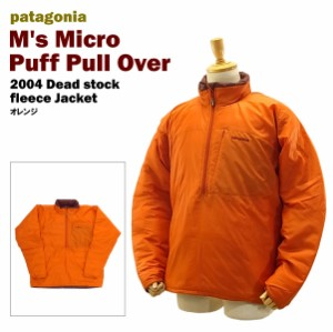 【送料無料】 パタゴニアマイクロパフプルオーバーデットストック オレンジ/Mサイズ (2004 patagonia M's Micro Puff Pull Over ORANGE)