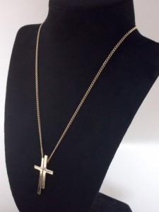 メール便(ゆうパケット)なら送料無料・ダブルクロスネックレス・シブカジ・アメカジ・十字架・M-1849