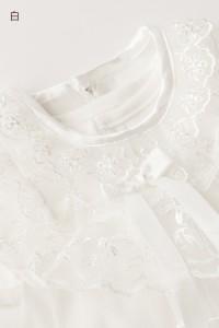 送料無料 ベビードレス セレモニードレス (ドレス・オーガンジ・フード スタイ ミトン 5点セット)ベビー服 結婚式 ER2798