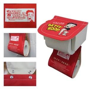 ベティートイレットペーパーホルダー(Betty:レッド) アメリカン雑貨 アメリカ雑貨 ベティ ベティブープ ベティちゃん ベティーちゃん