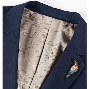 メンズ ジャケット テーラード ブレザー コート メンズコートアウター アウトドア 二つボタン カジュアル 刺繍 秋服