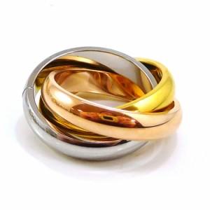 ステンレスリング トリニティ3連リング 指輪 ゆびわ 金属アレルギー 316L