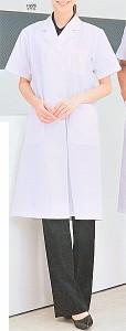 女子診察衣シングル H226 半袖 全1色 (FOLK フォーク ソワンクレエ 看護師 ドクター ナース メディカル白衣)