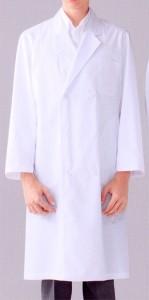 115-90 メンズ診察衣W型  長袖 全1色 (看護師 ドクター ナース 介護 メディカル白衣 「KAZEN」)