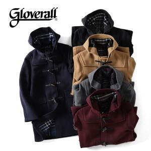 GLOVERALL グローバーオール ダッフルコート 912C-024 フード付き ロング コート チェック ウール トグル