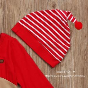 キッズ ロンパース サンタ衣装 クリスマス コスプレ鹿 トナカ  着ぐるみ サンタクロース  子供用 コスチューム ベビー服 仮装 コスプレ