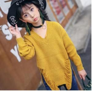 子供服 春秋着 冬着 トップス 下着 セーター キッズ 女の子 セーター ニット 暖かい 韓国風 体型カバー  長袖 プリンセス 綿 快適 柔軟