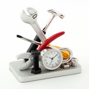 ミニチュア置時計 C8299 工具セット シルバー ミニチュアクロックコレクション