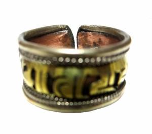 エスニックリング指輪ネパール製梵字エスニックアクセサリーエスニックアジアンファッションエスニック衣料雑貨