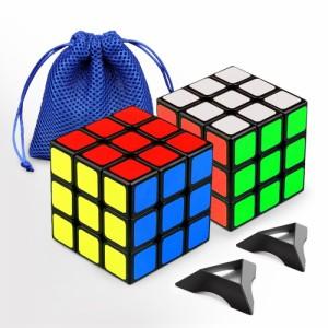 頭の体操に! 幼児・子供さんの知育教育にも役立つルービックキューブ2個セット
