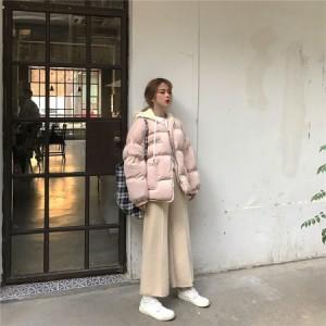 冬新型ダウン 綿入れ女子 ショート 韓版女装 フードコート 棉服さん 綿入れの女  ダウンジャケットコート レディース アウターXM17-1