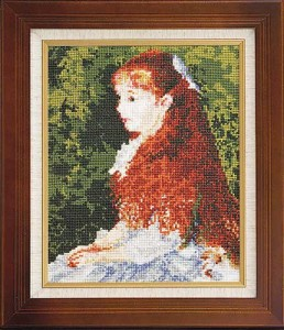 Olympusクロスステッチ刺繍キット880「イレーヌ・カーン・ダンヴェール嬢」(ルノワール作) Art Gallery アートギャラリー