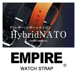 カーフ スプリット レザー/PU×ナイロン ハイブリッド NATO ストラップ 18mm/20mm 腕時計のベルト付け替えに最適 メール便