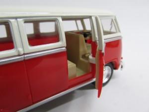 ダイキャストミニカー 1/32 1962 Volkswagen Classical Bus フォルクスワーゲン クラシカルバス レッド
