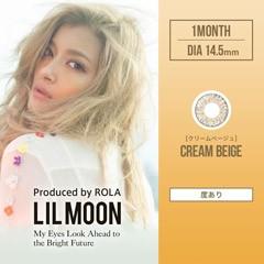 【度あり】ローラ LILMOON Monthly クリームベージュ   カラコン1month 1箱1枚入り2箱セット PIA