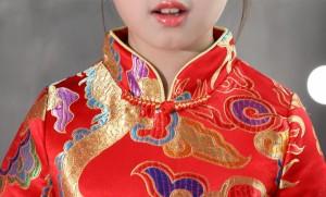2点送料無料 キッズファッション/子供ダンスウェア/中国宮廷風唐装・漢服/カジュアル/ 花柄エレガント復古風コスプレ衣装