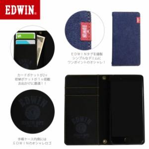 iPhone8/7/6/6s手帳ケース 【EDWIN/エドウィン】 「タグデニム」